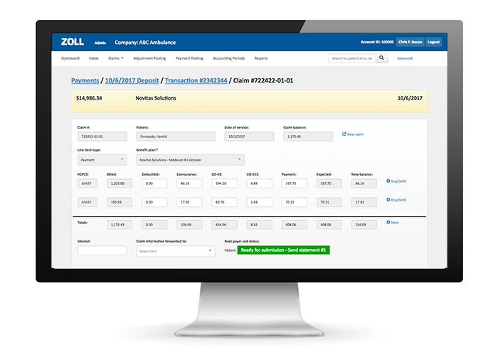 Cloud-based EMS billing software from ZOLL